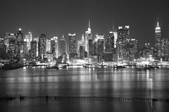 New York City Skyline (Jemlnlx) Tags: new york city nyc bw white 3 ny black west skyline canon lens eos boulevard zoom mark iii nj jfk east sp jersey 5d af tamron f28 xr weehawken 2875mm