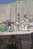 Photograph of separation barrier from Banksy gift shop, Bethlehem