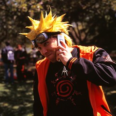 This is Naruto...Leave a Message [Dattebayo] (antonandreas) Tags: fuji phone cosplay ps velvia bronica brooklynbotanicgarden naruto sqa sakuramatsuri 100f zenzanon