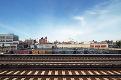 (Into Space!) Tags: urban rooftop train graffiti li tracks longisland goop graff lirr bombing throw gk fill longislandrailroad fillin throwie semp cface intospace goopunch