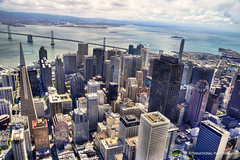 City from Above the Bay (TIA International Photography) Tags: sf california street city morning travel bridge sky urban west tower water clouds port marina buildings tia landscape real grid oakland bay coast harbor office spring dock highway san francisco downtown day cityscape estate view skyscrapers pyramid cloudy market harbour district central may fran aerial business condo transportation wharf embarcadero area vista destination metropolis intersection daytime interstate montgomery transamerica fulton elevation northern 80 complex height condominium frisco tosin springtime arasi tiascapes tiainternationalphotography