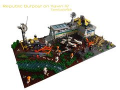 LEGO Star Wars - Republic Outpost on Yavin IV (TomSolo93) Tags: star republic lego wars iv yavin outpost tomsolo93