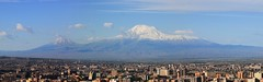 View on Yerevan and Ararat mountains from the Cascade (David Pin) Tags: armenia yerevan armnie  erevan   hayastan    hayastani hanrapetutyun