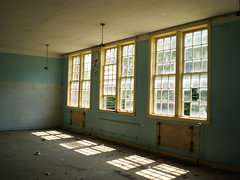 The Library (rushforsutherland) Tags: county city school windows light abandoned window rural high closed classroom kentucky ky library country class abandon pike middle derelict elkhorn