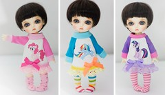 """My Little Pony"" Outfits for Lati Yellow Pukifee (Cyristine) Tags: cute yellow ball pie clothing rainbow twilight doll dress little handmade sparkle pony dash kawaii bjd pinkie mlp jointed lati pukifee"