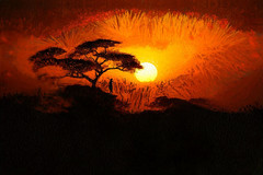 The watcher waits for You. (theseanbee) Tags: africa light art masterpiece seanbee redmatrix pixelpainted