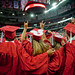 Graduates participate in the singing of the NC State Alma Mater.