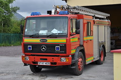 Kerry County Fire & Rescue Service KY 21A1 Mercedes Benz 1124F Browns WrL 97KY4051 (Shane Casey CK25) Tags: county blue light red rescue water truck fire mercedes benz ky engine kerry lorry browns service fireengine ladder flashing emergency sneem brigade firebrigade wrl 1124f 21a1 97ky4051