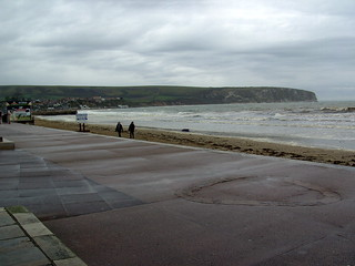 Wet Swanage Beach