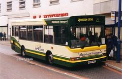 Blackburn Transport 658 (V658HEC). (Fred Dean Jnr) Tags: bus pointer lancashire blackburn dennis dart 658 april2003 citybus slf plaxton singledecker v658hec ainsworthstreetblackburn