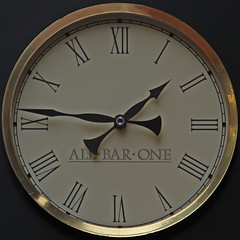 ALL BAR ONE (Leo Reynolds) Tags: clock canon eos time 7d squaredcircle iso160 250mm f67 0003sec hpexif sqyork xleol30x xclockx sqset078