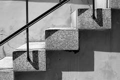 Stairway (TraumTeufel666) Tags: shadow bw geometry stairway treppe schatten 2012 geometrie schwarzweis canoneos400d pentacon50mm18 traumteufel666