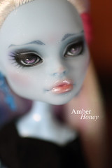 (Amber-Honey) Tags: abbey monster skull amber high doll ooak honey custom shores mattel repaint bominable