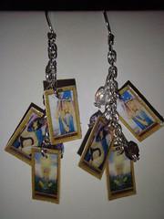 Love Story, Tarot card earrings