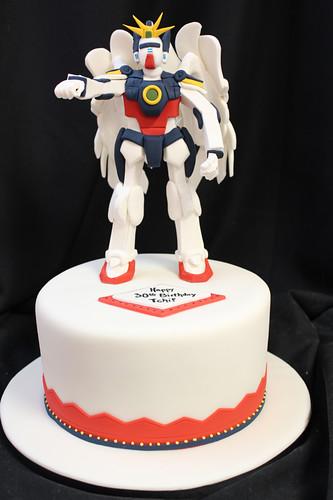 Gundam figurine cake