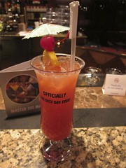 first drink of the cruise