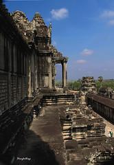 View from the top level of Angkor Wat (Henry der Mops) Tags: tower asia asien cambodia kambodscha southeastasia südostasien khmer angkorwat siemreap unescoworldheritage tempel buddhismus tempelanlage hindutempel unescoweltkulturerbe khmerarchitecture shivaismus hindutemplecomplex khmerarchitekture