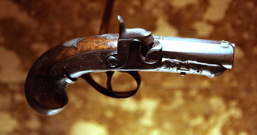 From flickr.com: John Wilkes Booth derringer used to kill Abraham Lincoln 02 - Fords Theatre - 2012-05-20 {MID-306578}
