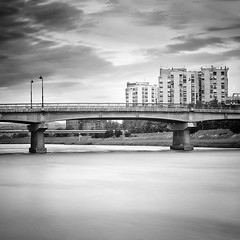 By the river (Vukadinovic Djordje) Tags: city longexposure bridge river square blackwhite mood nd110