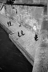 Along the Seine (Pascal M) Tags: bw paris seine river streetphotography