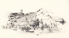Burg Gutenfels / Pfalz (Flaf) Tags: pencil am die drawing insel florian fluss rhein pfalz burg freie zoll mittelrheintal weinberge rhin kaub flaf gutenfels pfalzgrafenstein oberes afflerbach zeichnerei