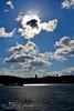 "Ambiguity of a boat! | غمـــوض قـــارب !! (Noor Al-janabi ""N.J"") Tags: blue sea sun mist skyline clouds turkey dark boat amazing day cloudy istanbul behind ambiguity بر غموض بحر ظلام اسطنبول تركيا ظلال البسفور"