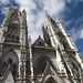 La facciata gotica della Basilica del Voto Nacional