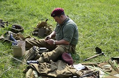 Secret City Festival WWII Reenactment (Paul Mashburn's Captures) Tags: bar reenactment reenactors tanks americansoldiers wargames halftrack germansoldiers oakridgetennessee secretcityfestival armygames wwiibattlereenactment