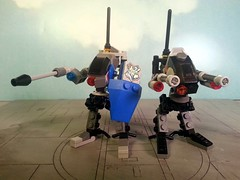 Raven's Claw and Black Dynamite (seanmonster) Tags: mobile lego frame zero mecha