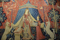 Lady with the Unicorn tapestry series, detail, late 15th cent (29) (Prof. Mortel) Tags: paris france ladywiththeunicorn museenationaldesmoyenages