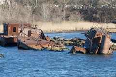 Tanked (TugSailor) Tags: abandoned marine maritime tug kills derelict boneyard wrecks newyorkharbor arthurkill libertyservice