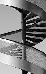 IMG_1718 UP OR DOWN ? (WORLD OF FMR) Tags: sky blackandwhite up metal stairs canon noiretblanc down