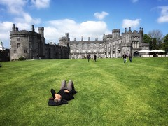 Kilkenny Castle (Costa Rica Bill) Tags: ireland green castle grass relaxing springtime sunnyday mobilephotography iphoneography snapseed