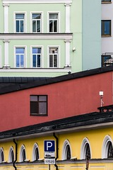 *** (Alex Toutaeff) Tags: street city red urban green colors yellow wall buildings