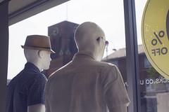 19/52 (2016): Mannequins dream. Back shot. (Sean Hartwell Photography) Tags: mannequin church window hat fashion shop retail back shot dummy hertfordshire longing lookingout borehamwood shenleyroad week19theme 52weeksthe2016edition week192016 weekstartingfridaymay62016