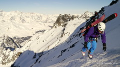 Day 3: Topping out in the sun. (Erik.G.) Tags: zermatt chamonix skitouring skitour hauteroute valsorey plateauducouloir