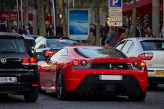 Spotting 2011 - Ferrari 430 Scuderia (Deux-Chevrons.com) Tags: auto street paris france car sport automobile ferrari spot voiture exotic coche spotted gt rue luxury scuderia supercar spotting exotics f430 430 ferrarif430 sportcar prestige croise ferrarif430scuderia