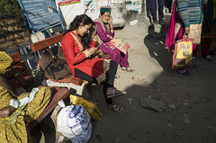 The Text Message (Shubh M Singh) Tags: street india bus candid stop wait gr ricoh himachal pradesh peo reckong