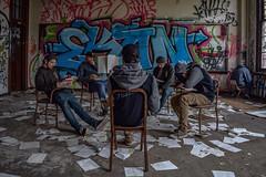Detention (AbandonedApertures) Tags: portrait abandoned manipulation urbex mulplicity
