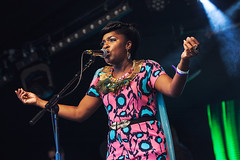 Ibibio Sound Machine @ Lunar Festival 4 (preynolds) Tags: festival concert birmingham raw dof singing stage gig livemusic noflash singer electronic afrobeat mark2 stagelights tamron2470mm canon5dmarkii frontwomen counteractmagazine lunarfestival2016