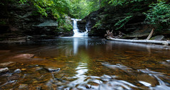 The whole pond (ranzino) Tags: us waterfall unitedstates pennsylvania pa waterfalls benton rickettsglenstatepark glensnaturalarea