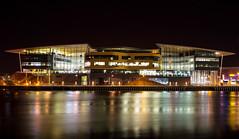 University of South Wales, Newport (technodean2000) Tags: uk reflection building wales night river nikon university south usk lightroom d610