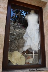 Lindos (Eleanna Kounoupa) Tags: white hat reflections islands dress greece rodos lindos vitrines   dodecaneseislands