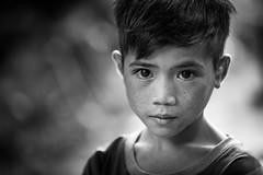 """Vietnam: portrait dans un village """"Lolo noir"""". (claude gourlay) Tags: portrait people blackandwhite bw face asia child retrato nb vietnam asie ethnic minority enfant ritratti indochine caobang tonkin baolac ethnie minorit claudegourlay lolonoir"""