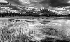 Passing Storm (wengeshi) Tags: park travel lake storm clouds best national banff vermilionlake