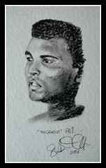 """ALI """"THE GREATEST"""" BY BROADY 2003. (Broady - Salford art and photography) Tags: archive ali muhammadali cassiusclay boxer boxing portrait legend fighter broady broadhurst stephenbroadhurst salford manchester art thegreatest"""