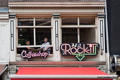 Coffeeshop (Streetphotography by Joost Smulders) Tags: city people urban holland color colour amsterdam candid nederland streetphotography coffeeshop nieuwmarkt stad raam mensen kleur straatfotografie