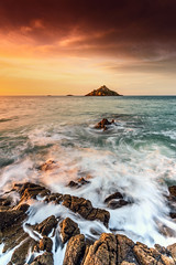 Verdelet sunset ... (Ludovic Lagadec) Tags: longexposure sunset sea sky mer seascape beach landscape brittany rocks marin dream bretagne breizh armor manche rochers nisi ndfilter mare gr34 nd64 oceanscape orageux gnd8 bretagnenord grandemare pleneufvalandre canon6d ludoviclagadec