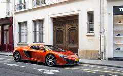 Volcano Orange. (misterokz) Tags: street orange paris car photography volcano spider automobile voiture exotic mclaren marais supercar spotting carspotting mcl 650s misterokz