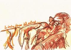 NATURAL (GARGABLE) Tags: sketch natural drawings dibujos sirena apuntes silln tumbada lpicesdecolores uskspain gargable angelbeltrn
